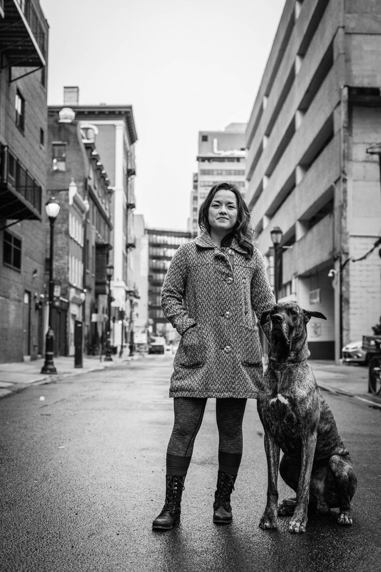 Philadelphia Photographer Environmental Portrait Dog In Street