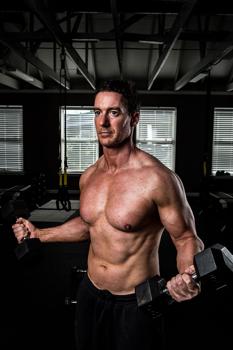 Philadelphia Photographer Fitness Model Portrait Shirtless