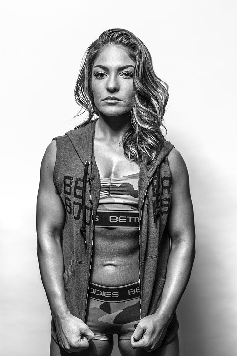 Philadelphia Photographer Gritty Fitness Model Portrait